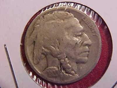 1920 D Buffalo Nickel - Planchet Defect On Obverse - Vg - See Pics! - (N4761)