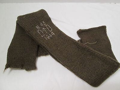 WWII British Army OD Brown Wool Hose Tops 1944