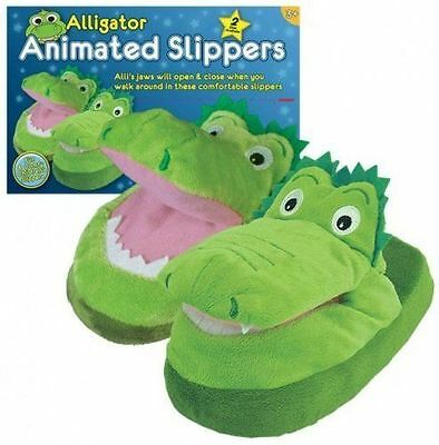 ALLIGATOR ANIMATED CHILDREN BOYS GIRLS SLIPPERS in size SIZE 12-2