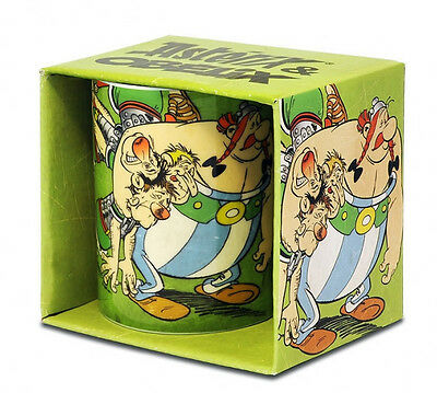 RARE Asterix and Obelix with Roman soldiers  Ceramic MUG MINT in Box Germany