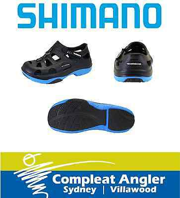 Shimano Evair Shoes Black and Blue Size 8 BRAND NEW At Compleat Angler