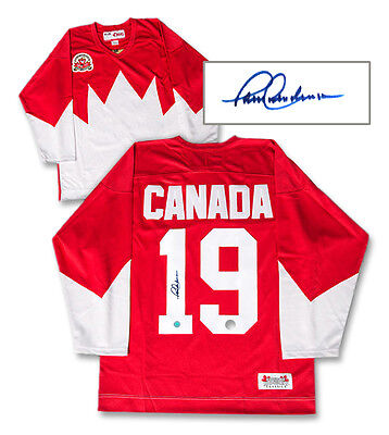 Paul Henderson Team Canada Signed Premium Jersey COA AJ's Sports World