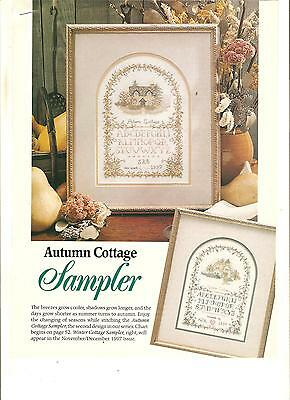"""Counted Cross~Stitch Chart For """"autumn*cottage"""" Sampler"""