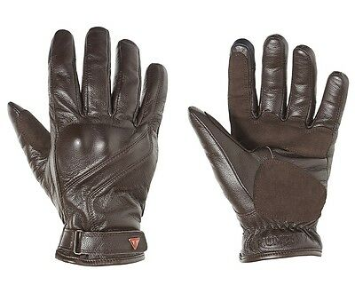 Triumph Lothian Leather Motorcycle Gloves Brown MGVA16105