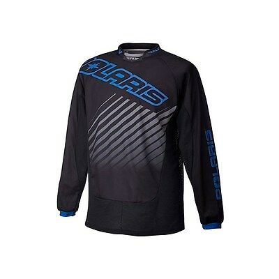 Polaris Jersey Fly Racing Black Blue Size Mens LARGE