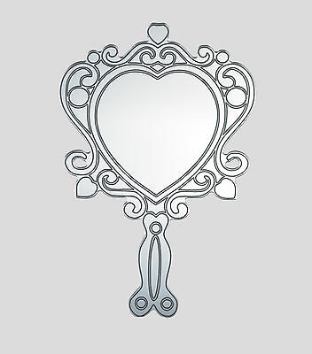 Ornate hand mirror  , acrylic, home childrens bedroom / playroom  shatterproof