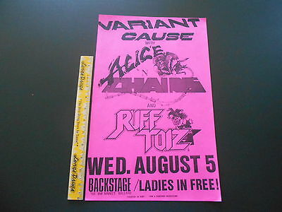 Alice In Chains & Variant Cause August 5 @ Backstage concert poster flyer