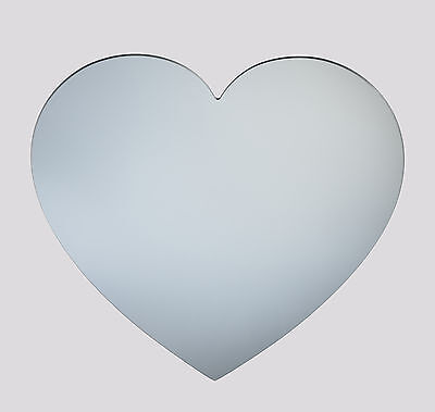 Heart acrylic mirror - home bathroom childrens wall shatterproof