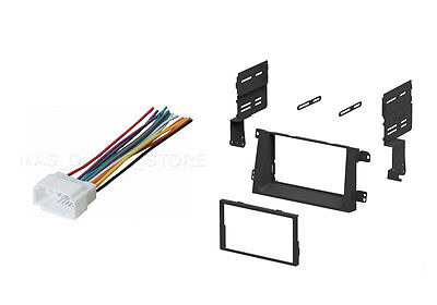 Double DIN Install Stereo Dash Kit Wire harness for 2006-2011 Honda Ridgeline