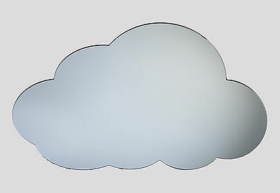 Cloud shaped decorative acrylic mirror, home accessory, bedroom dream mirror