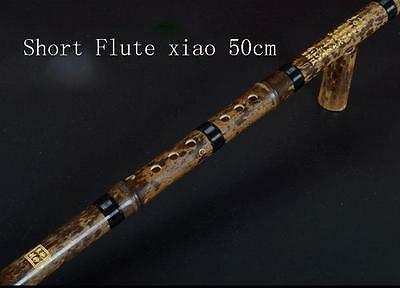 Chinese Instrument  Professional Purple Bamboo 1 Section Short  Flute Xiao C key