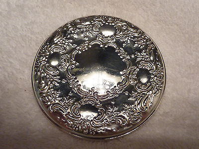 Antique Sterling Silver Repoussé Pocket Mirror By Towle
