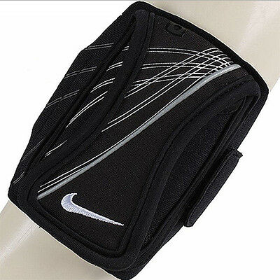 NIKE Outdoor Arm Band Sports Running Wallet Cell MP3 Folder Phone Key BL Holder