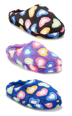 WHOLESALE LOT 36 Pairs Fluffy Girl Heart Pattern House slippers comfort--309NK