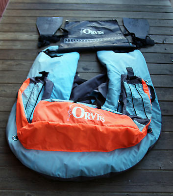 Orvis Fly Fishing Float Tube, Personal Watercraft, Kick Boat With Fins NICE!