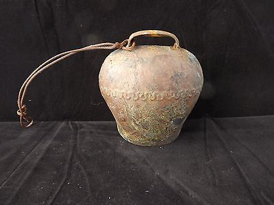 Vintage Rustic Primitive Cow Bell 5 X 5 X 3 Inches +/-