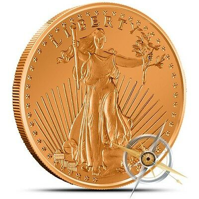 1 oz Copper Round - Saint Gaudens
