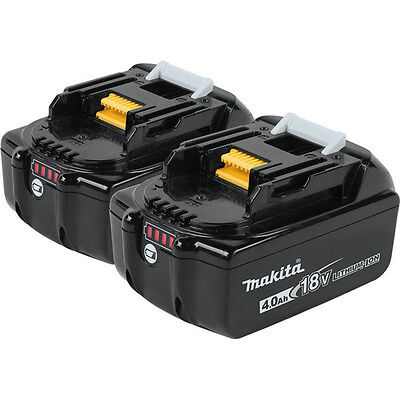 Makita 18V 4.0 Ah LXT Lithium-Ion Battery (2-Pack) BL1840B-2 New WITH LED GUAGE!