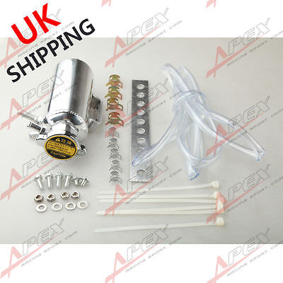 Universal Radiator Overflow Breather Tank Engine Coolant Catch Can Cap