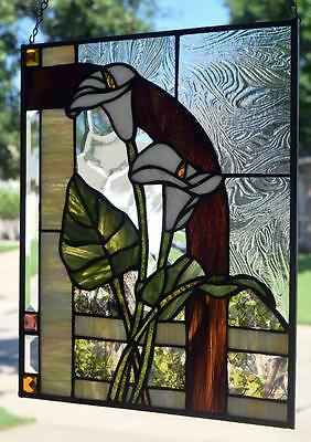"Stained Glass Window Panel ""Calla Lily"""