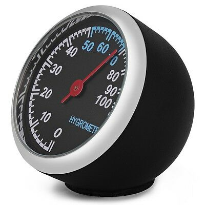 New Mechanics Thermometer Hygrometer Clock Time Steel Core Pointer For Auto Car