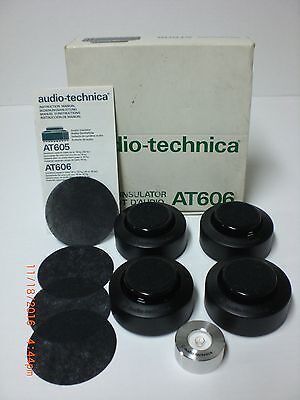 Original Audio-Technica AT606 Audio Insulator ( set of 4 ) With Turntable Level