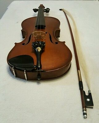 ANTIQUE German Violin for Parts/Repair,restore, with bow, no case