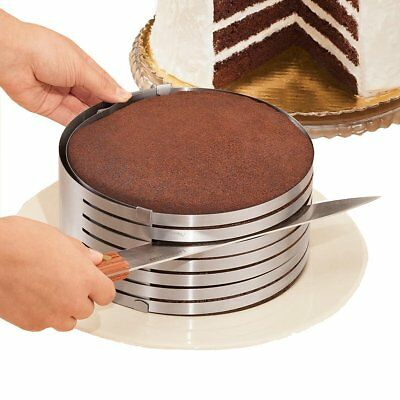 12'' Adjustable Stainless Steel Round Mousse Cake Ring MoldLayer Slicer Cutter