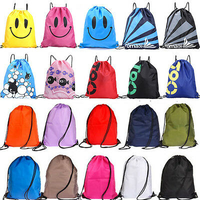 New Travel Waterproof Drawstring Gym Bag Sack Backpack Swim School Book Sport
