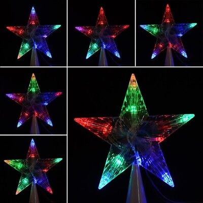 Large Christmas Crystal Tree Topper Star Lights Lamp Multi Color Decoration