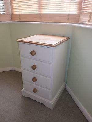pine bedside cabinet small chest of drawers