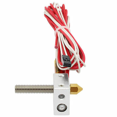 Heater Block Assembled Extruder Hot End for Prusa i3 3D Printer 1.75mm 0.4mm MK8