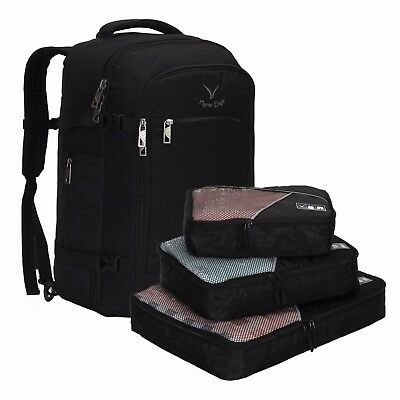 Hynes Eagle Travel Backpack 40L Flight Approved Carry on Backpack Packing Cubes