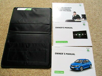 Skoda Fabia Owners Handbook Manual & Wallet 2015 2016 Fast Post Same Day