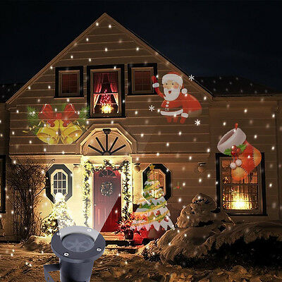 Outdoor Moving Snowman LED Laser Light Projector Landscape Xmas Garden Lamp