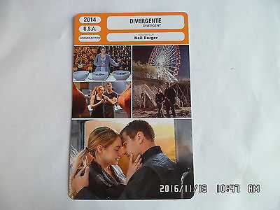 CARTE FICHE CINEMA 2014 DIVERGENTE Shailene Woodley Theo James Kate Winslet