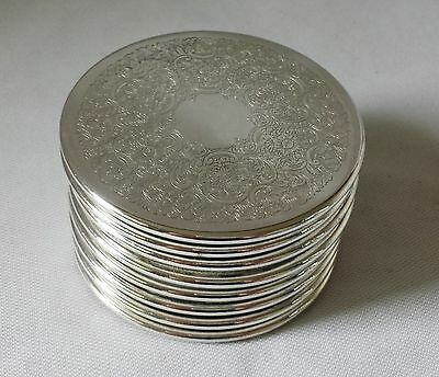 Eight Vintage C1970's Strachan Silver Plate Drink Coasters