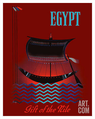 Egypt - Gift of the Nile - Ancient Egyptian Solar Boat Giclee Print, 16x20