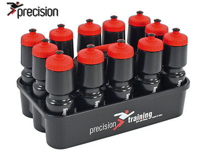 *brand New* Precision Training  - Water Bottle Carrier & 12 Bottles - Black/red