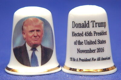 Donald Trump Elected 45th President of The USA 2016 China Thimble B/175