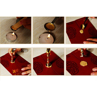Personalized Vintage Wax Seal Stamp Spoon Gift Box Letter Style Supplies