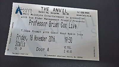 Professor Brian Cox Basingstoke TONIGHT -1 stalls ticket for sale at face value