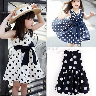 Baby Kids Girls Flower Sleeveless Princess Summer Dress Party Skirt Clothes Hot