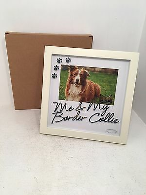 Best of Breed Me & My Border Collie Box Picture Frame Paw Prints BRAND NEW BOXED