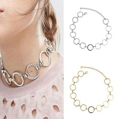 Women Jewelry Neck Decor Short Choker O Shape Linked Neacklace Pendant Collar