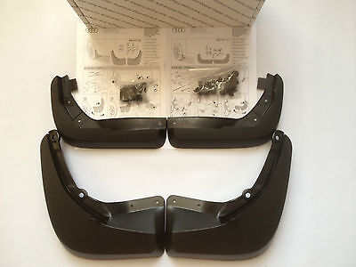 Genuine Brand New Audi A4 2008-2011 Front & Rear Mud Flaps Set