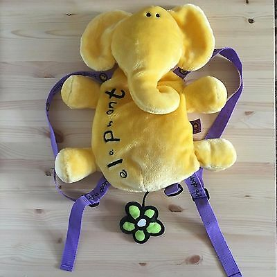 Cute Yellow Elephant Plush Packbag- Bang on the Door Character Bag / Soft Toy