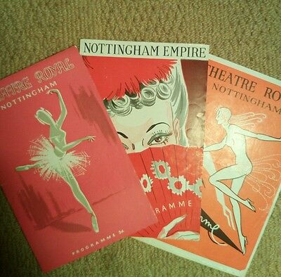Nottingham Theatre Royal and Empire Theatre 1940s programmes