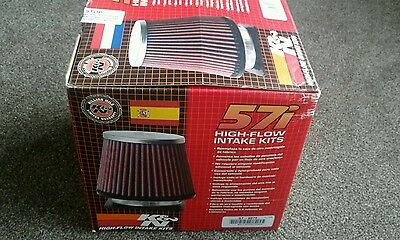 57-0372 K&N 57i Performance Air Filter Induction Kit For Mazda MX5 1.6 MK2 98-05