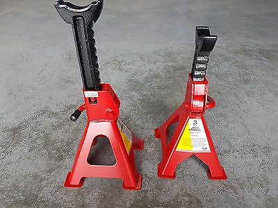 2Pc 3 TON Car AXLE STAND Adjustable Steel Ratchet, JACK STANDS